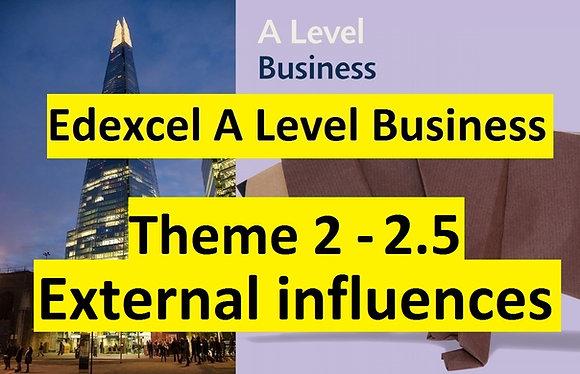 Edexcel A Level Business Theme 2- 2.5 External influences