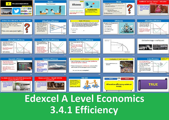 3.4.1 Efficiency - Theme 3 Edexcel A Level Economics