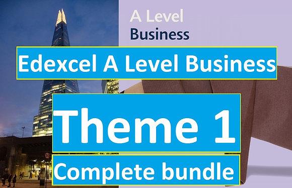 Edexcel A Level Business Theme 1 (COMPLETE COURSE)