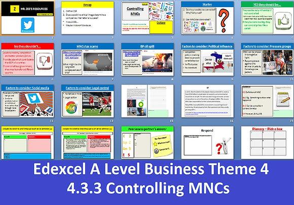 Edexcel A Level Business Theme 4 - 4.4.3 Controlling MNCs