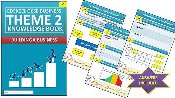 Edexcel GCSE Business Knowledge book (Theme 2)