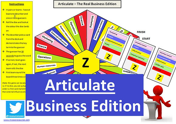 Articulate - GCSE Business revision (editable)