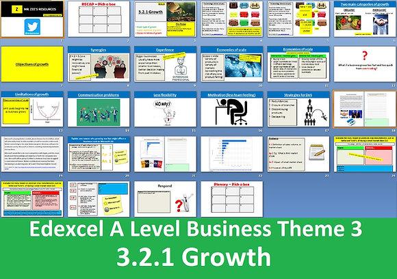 Edexcel A Level Business Theme 3 - 3.2.1 Growth