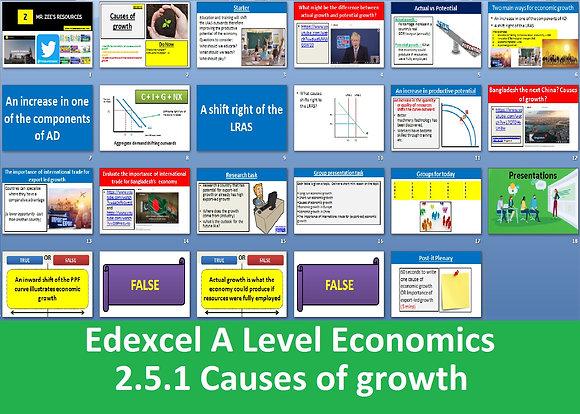 2.5.1 Causes of growth - Theme 2 Edexcel A Level Economics