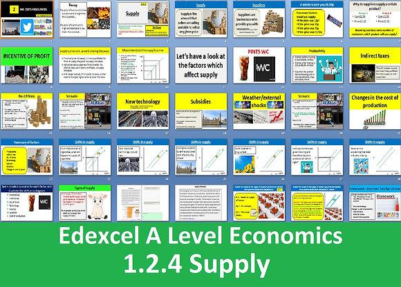1.2.4 Supply - Theme 1 Edexcel A Level Economics