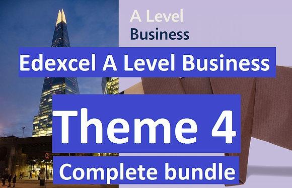 Edexcel A Level Business Theme 4 (COMPLETE COURSE)