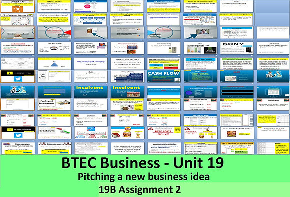 BTEC Business - Unit 19 Pitching a new business idea (19b Assignment 2)