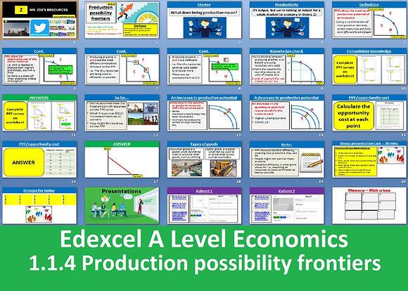 1.1.4 Production possibility frontiers (PPF) - Theme 1 Edexcel A Level Economics