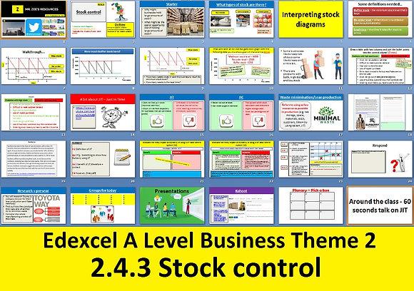 2.4.3 Stock control - Theme 2 Edexcel A Level Business