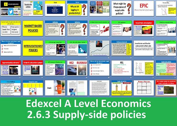 2.6.3 Supply side policies - Theme 2 Edexcel A Level Economics