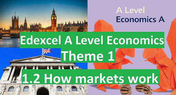 Edexcel A Level Economics Theme 1 - 1.2 How markets work