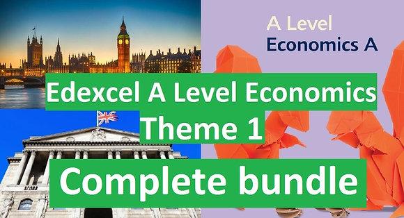 Edexcel A Level Economics Theme 1 (COMPLETE COURSE)