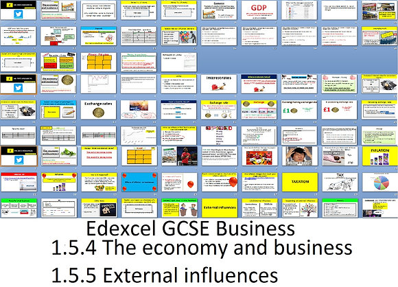 Edexcel GCSE Business - Theme 1 - 1.5.4 and 1.5.5 The economy and business
