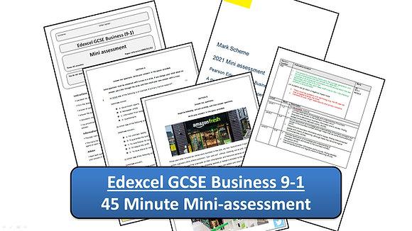Edexcel GCSE Business - 45 Minute Mini-assessment