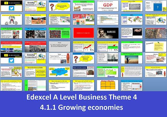 Edexcel A Level Business Theme 4 - 4.1.1 Growing economies