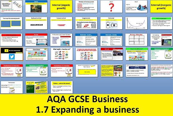 AQA GCSE Business 9-1 - 1.7 Expanding a business