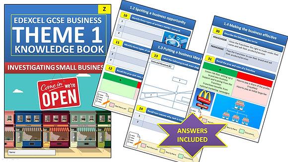 Edexcel GCSE Business Knowledge book (Theme 1)