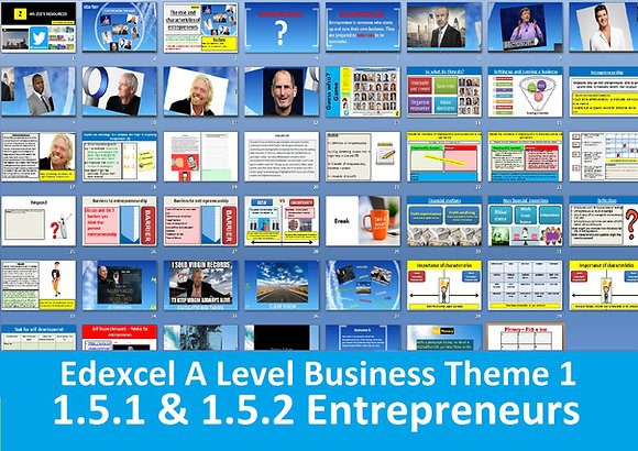 1.5.1 & 1.5.2 The role and characteristics of entrepreneurs - Theme 1 Edexcel A