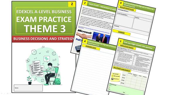 Edexcel A Level Business Theme 3 Exam Practice (Interactive Book)