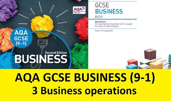 AQA GCSE Business 9-1 - 3 Business operations