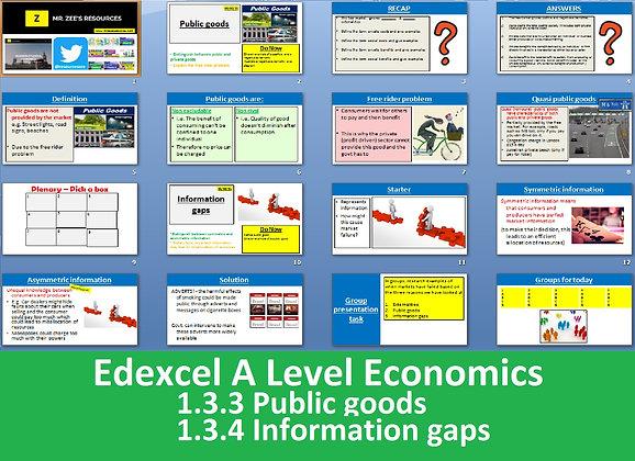 1.3.3 Public goods & 1.3.4 Information gaps - Theme 1 Edexcel A Level Economics