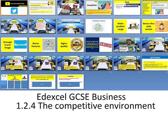 Edexcel GCSE Business - Theme 1 - 1.2.4 The competitive environment
