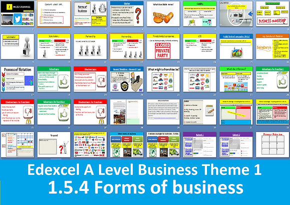 1.5.4 Forms of business - Theme 1 Edexcel A Level Business