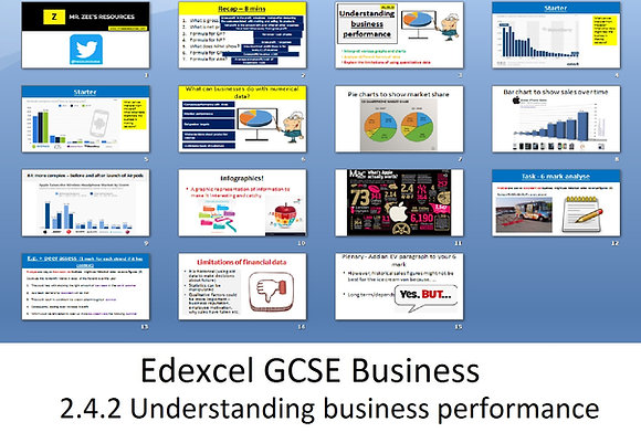 Edexcel GCSE Business - Theme 2 - 2.4.2 Understanding business performance