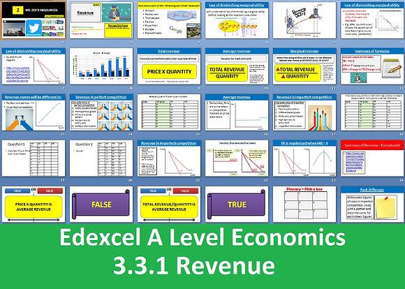 3.3.1 Revenue - Theme 3 Edexcel A Level Economics