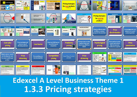 1.3.3 Pricing strategies - Theme 1 Edexcel A Level Business