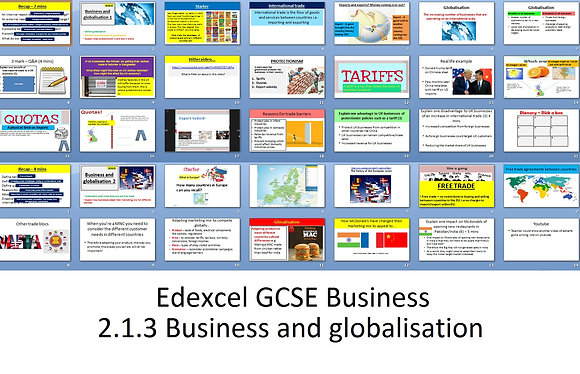 Edexcel GCSE Business - Theme 2 - 2.1.3 Business and globalisation