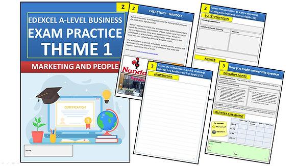 Edexcel A Level Business Theme 1 Exam Practice (Interactive Book)