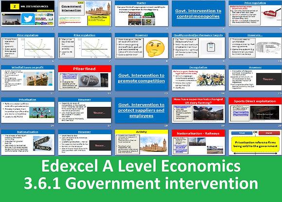 3.6.1 Government intervention - Theme 3 Edexcel A Level Economics