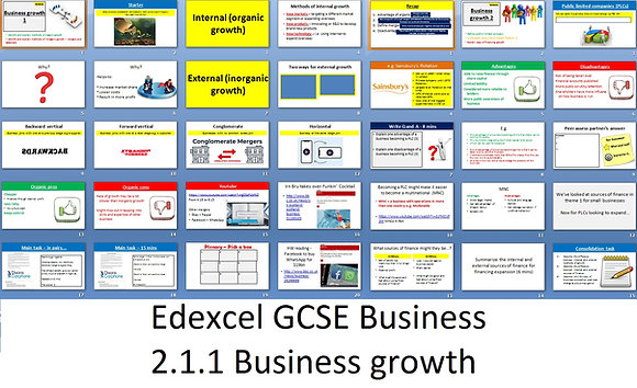 Edexcel GCSE Business - Theme 2 - 2.1.1 Business growth