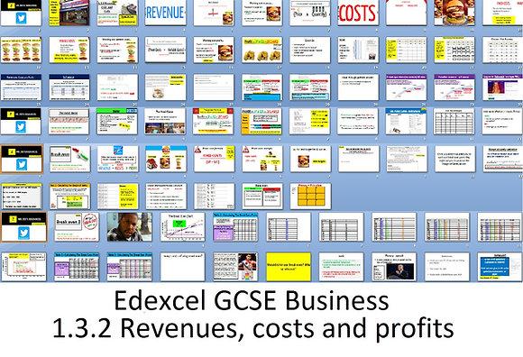 Edexcel GCSE Business - Theme 1 - 1.3.2 Business revenues, costs and profit