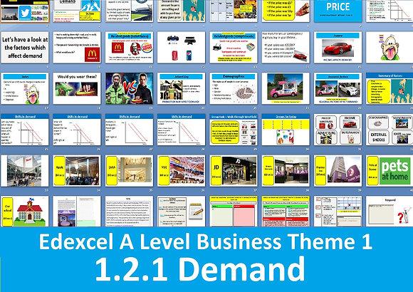 1.2.1 Demand - Theme 1 Edexcel A Level Business