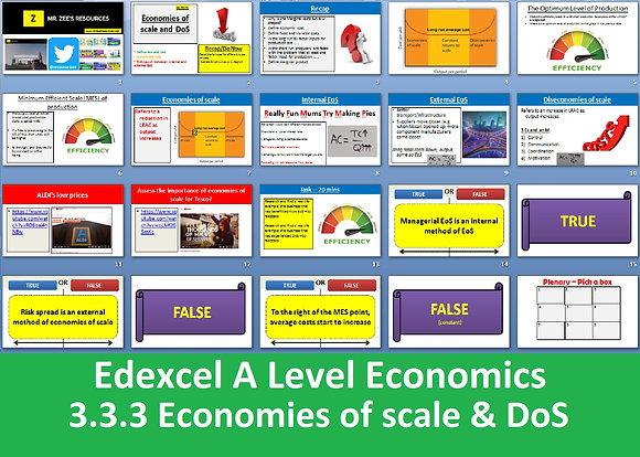 3.3.3 Economies and diseconomies of scale - Theme 3 Edexcel A Level Economics