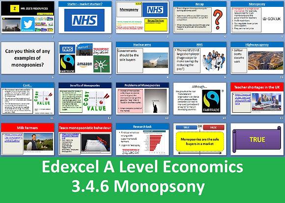 3.4.6 Monopsony - Theme 3 Edexcel A Level Economics