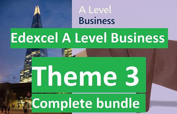 Edexcel A Level Business Theme 3 (COMPLETE COURSE)