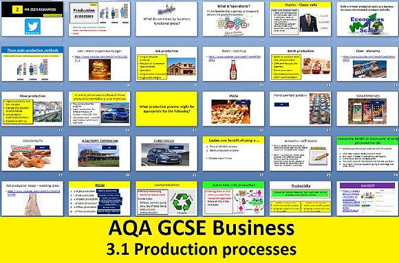 AQA GCSE Business 9-1 - 3.1 Production processes
