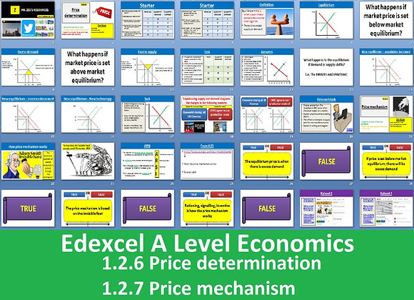 1.2.6 Price determination & 1.2.7 Price mechanism - Theme 1 Edexcel A Level Econ
