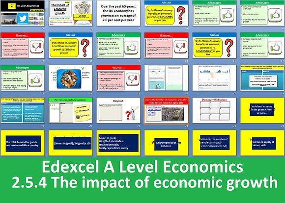 2.5.4 The impact of economic growth - Theme 2 Edexcel A Level Economics