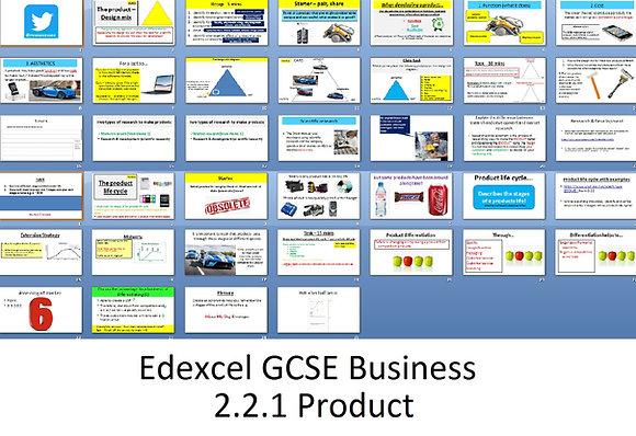 Edexcel GCSE Business - Theme 2 - 2.2.1 Product