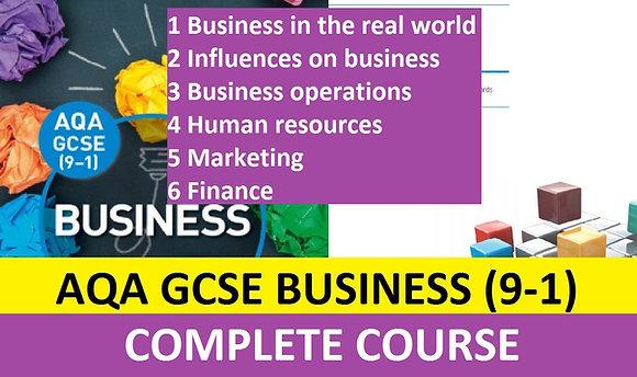 AQA GCSE Business 9-1 (COMPLETE COURSE)