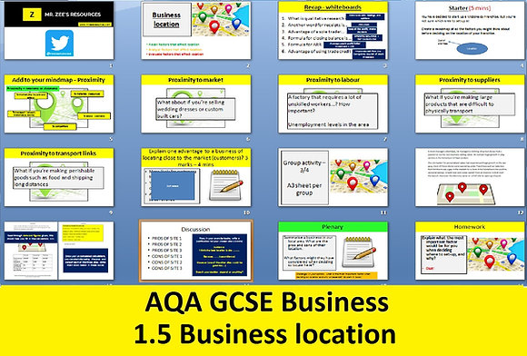 AQA GCSE Business 9-1 - 1.5 Business location
