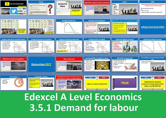 3.5.1 Demand for labour - Theme 3 Edexcel A Level Economics