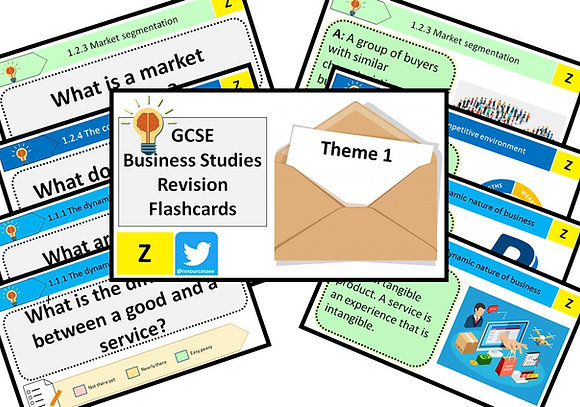 Flashcards - GCSE Business - Knowledge revision (sample)