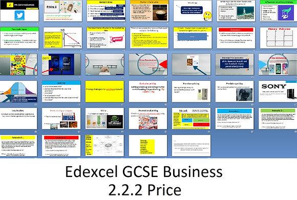 Edexcel GCSE Business - Theme 2 - 2.2.2 Price