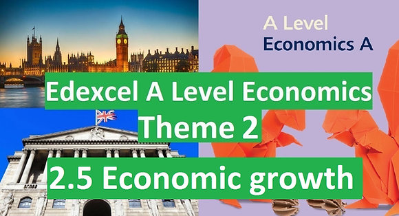 Edexcel A Level Economics Theme 2 - 2.5 Economic growth