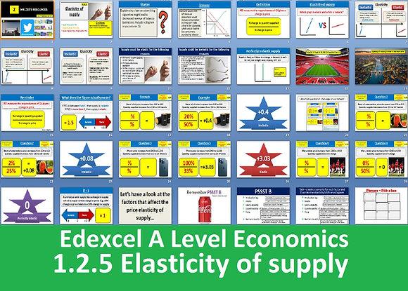 1.2.5 Elasticity of supply - Theme 1 Edexcel A Level Economics